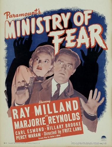 MINISTRY OF FEAR FILM POSTER 4
