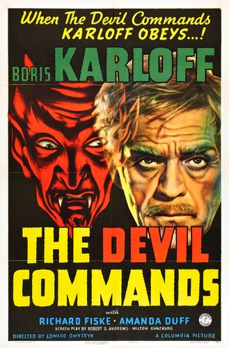 THE DEVIL COMMANDS FILM POSTER 2