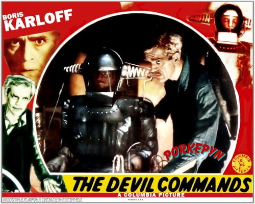 THE DEVIL COMMANDS LOBBY CARD 1