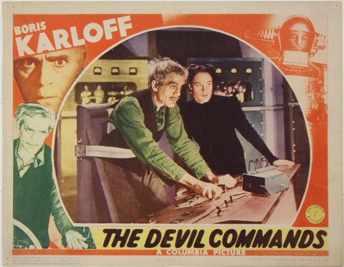 THE DEVIL COMMANDS LOBBY CARD 2