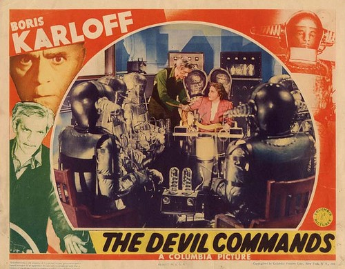 THE DEVIL COMMANDS LOBBY CARD 3