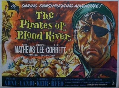 PIRATES OF BLOOD RIVER FILM POSTER 1