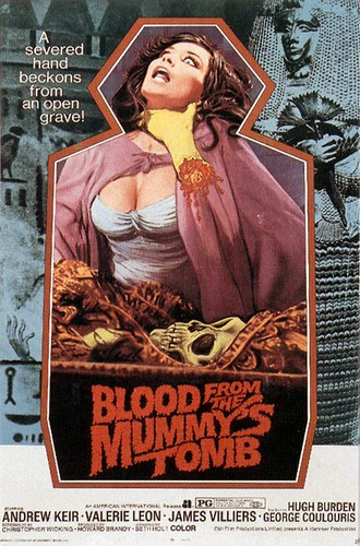 BLOOD FROM THE MUMMYS TOMB FILM POSTER 2