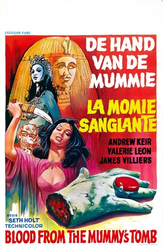 BLOOD FROM THE MUMMYS TOMB FILM POSTER 3