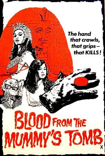 BLOOD FROM THE MUMMYS TOMB FILM POSTER 4