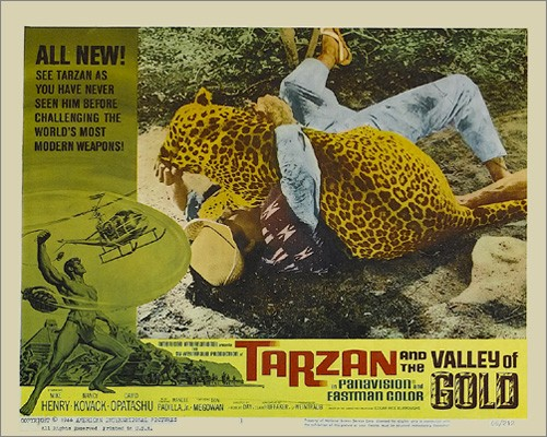 TARZAN & THE VALLEY OF GOLD FILM POSTER 7
