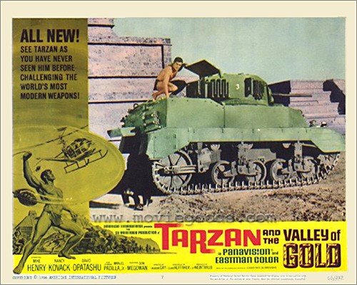 TARZAN & THE VALLEY OF GOLD FILM POSTER 8