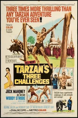 TARZAN`S 3 CHALLENGES FILM POSTER 1