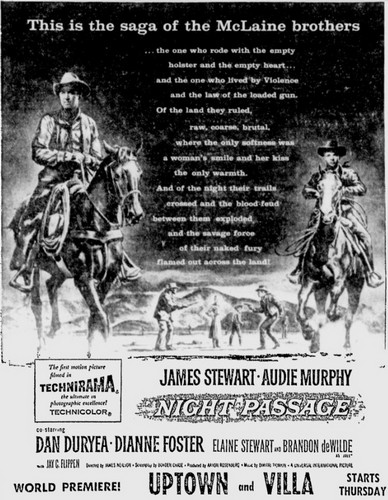 NIGHT PASSAGE FILM POSTER 7