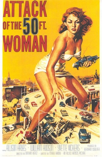 ATTACK OF THE 50 FOOT WOMAN FILM POSTER 1