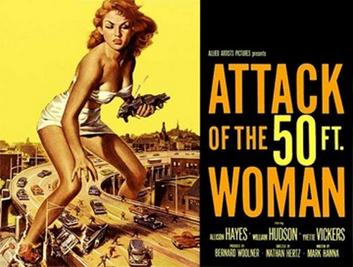 ATTACK OF THE 50 FOOT WOMAN FILM POSTER 2