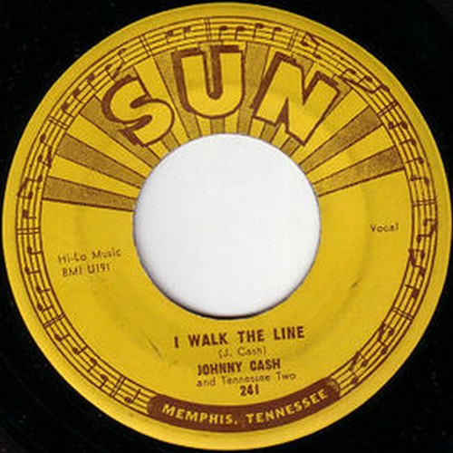 I WALK THE LINE 45 COVER