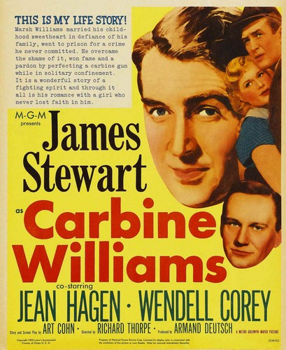 CARBINE WILLIAMS FILM POSTER 2