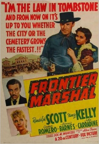 FRONTIER MARSHAL FILM POSTER 1