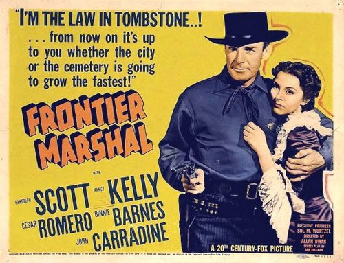 FRONTIER MARSHAL FILM POSTER 2