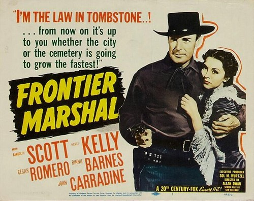 FRONTIER MARSHAL FILM POSTER 5