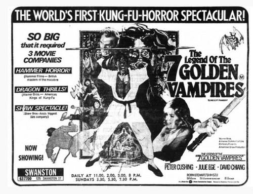 THE LEGEND OF THE 7 GOLDEN VAMPIRES FILM POSTER 8