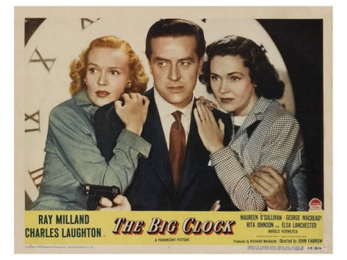 THE BIG CLOCK LOBBY CARD 2
