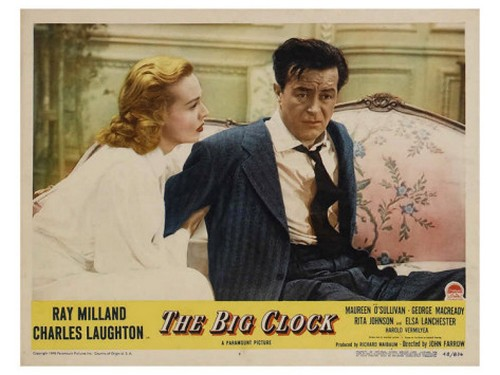 THE BIG CLOCK LOBBY CARD 3