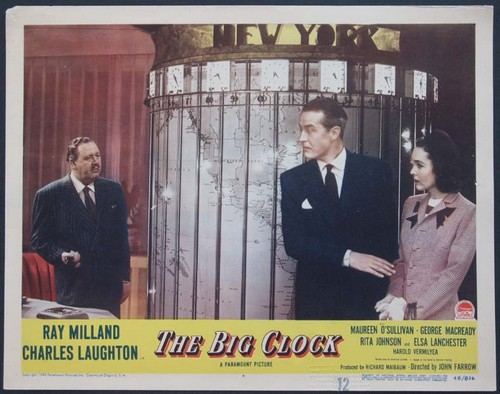 THE BIG CLOCK LOBBY CARD 4