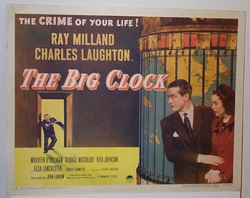THE BIG CLOCK LOBBY CARD 5