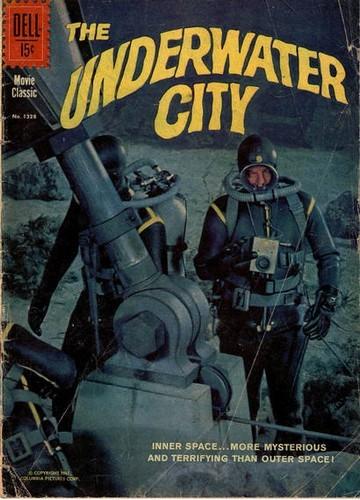 THE UNDERWATER CITY DELL COMICS COVER