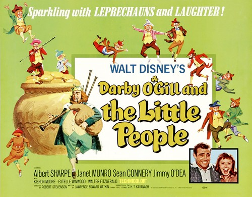 DARBY O`GILL & THE LITTLE PEOPLE FILM POSTER 2