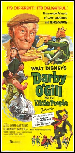 DARBY O`GILL & THE LITTLE PEOPLE FILM POSTER 4