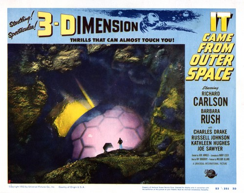 IT CAME FROM OUTER SPACE LOBBY CARD 2