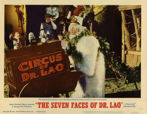 THE 7 FACES OF DR LAO LOBBY CARD 2