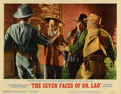 THE 7 FACES OF DR LAO LOBBY CARD 3