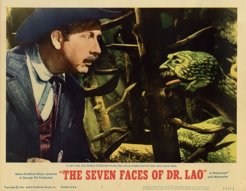 THE 7 FACES OF DR LAO LOBBY CARD 4