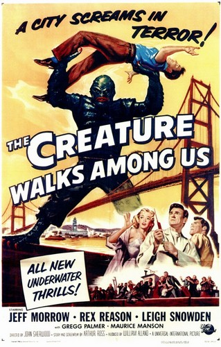 THE CREATURE WALKS AMONG US FILM POSTER 1