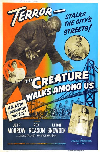 THE CREATURE WALKS AMONG US FILM POSTER 2