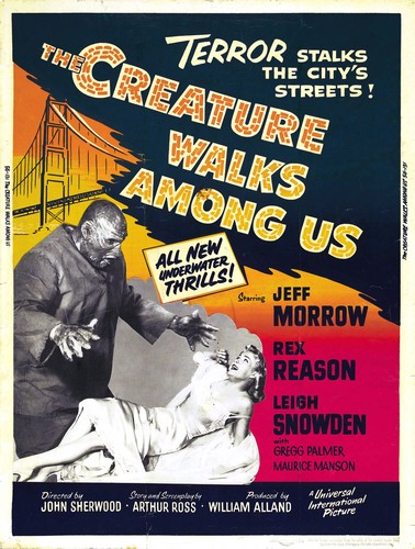 THE CREATURE WALKS AMONG US FILM POSTER 4