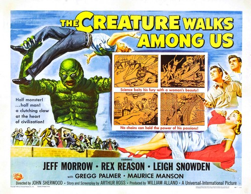 THE CREATURE WALKS AMONG US FILM POSTER 5