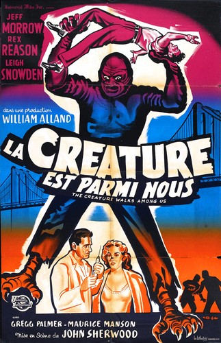 THE CREATURE WALKS AMONG US FILM POSTER 7