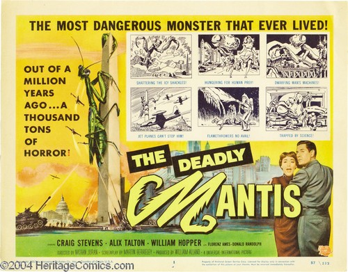 THE DEADLY MANTIS FILM POSTER 11