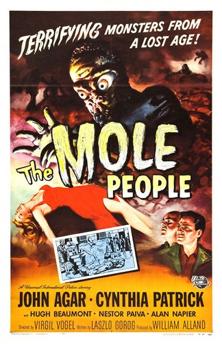 THE MOLE PEOPLE FILM POSTER 2