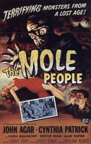THE MOLE PEOPLE FILM POSTER 3