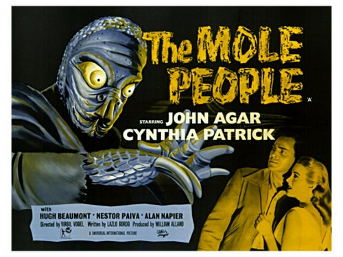 THE MOLE PEOPLE FILM POSTER 4
