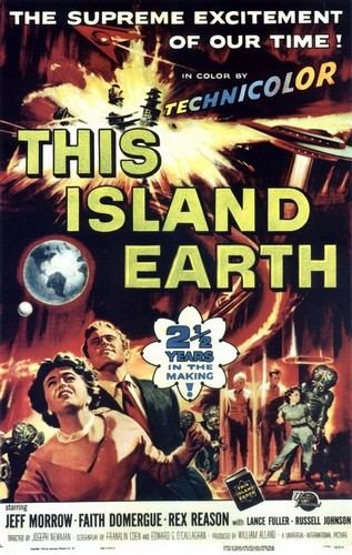 THIS ISLAND EARTH FILM POSTER 2