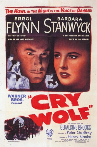 CRY WOLF(1947) FILM POSTER 2