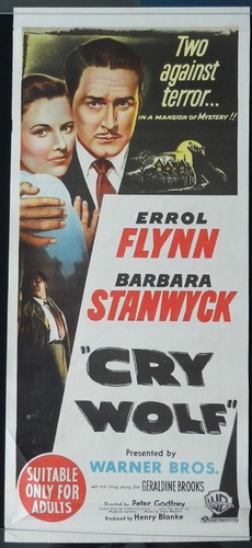CRY WOLF(1947) FILM POSTER 3