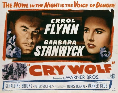 CRY WOLF(1947) FILM POSTER 4