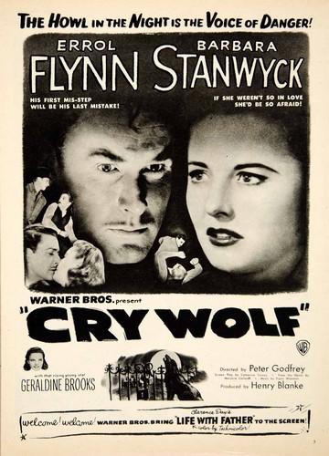 CRY WOLF(1947) FILM POSTER 5