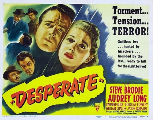 DESPERATE(1947) FILM POSTER 2