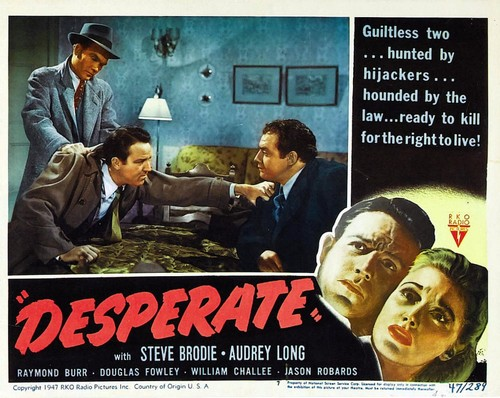 DESPERATE(1947) LOBBY CARD 1