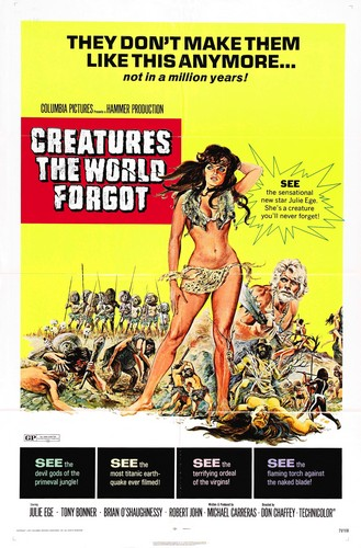 CREATURES THE WORLD FORGOT(1971) FILM POSTER 2