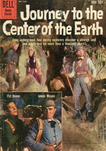 JOURNEY TO THE CENTER OF THE EARTH DELL COMICS COVER COVER 2